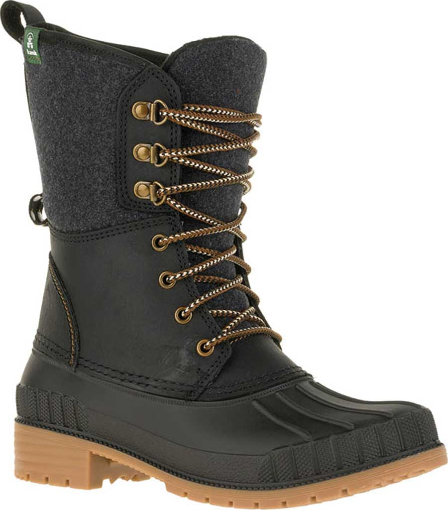 Women's Kamik Sienna 2 Ankle Boot, Black Flannel/Leather, large, image 1