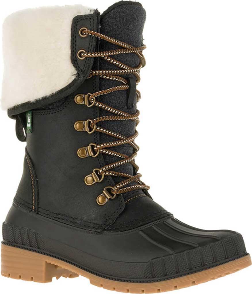 Women's Kamik SiennaF 2 Knee High Boot, Black Flannel/Leather, large, image 1