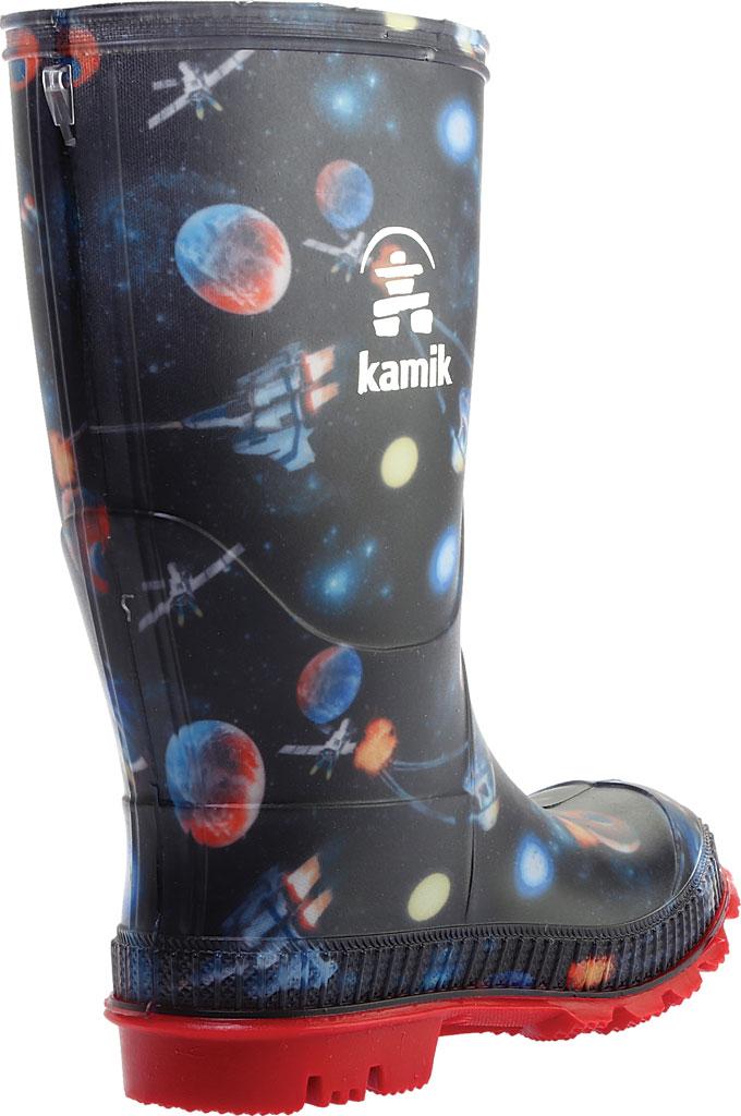 Boys' Kamik Stompspace Rain Boot - Little Kid, Black Rubber, large, image 4