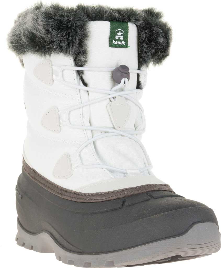 Women's Kamik Momentumlo Winter Boot, White Waterproof Quilted Nylon, large, image 1