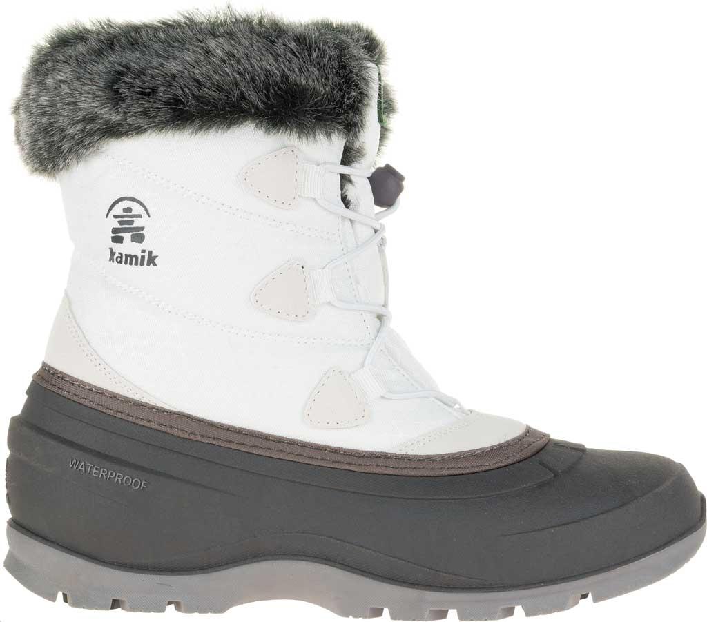 Women's Kamik Momentumlo Winter Boot, White Waterproof Quilted Nylon, large, image 2