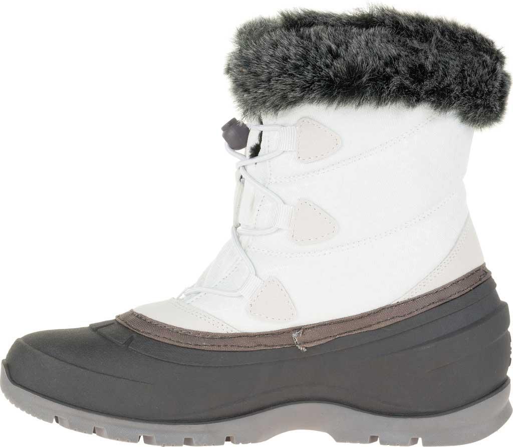 Women's Kamik Momentumlo Winter Boot, White Waterproof Quilted Nylon, large, image 3