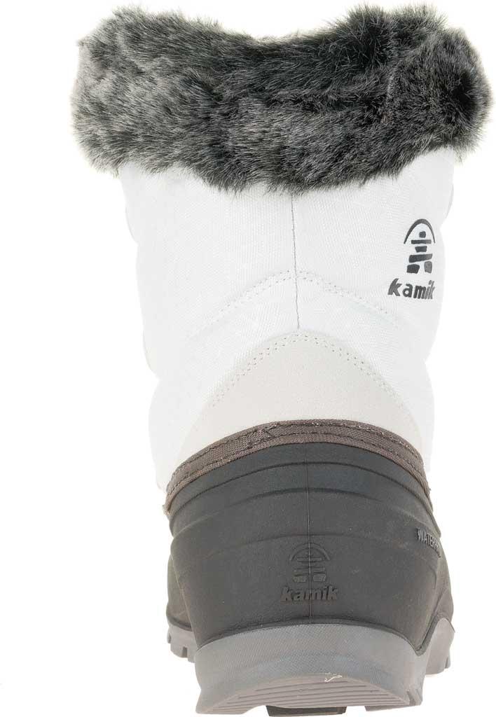 Women's Kamik Momentumlo Winter Boot, White Waterproof Quilted Nylon, large, image 4