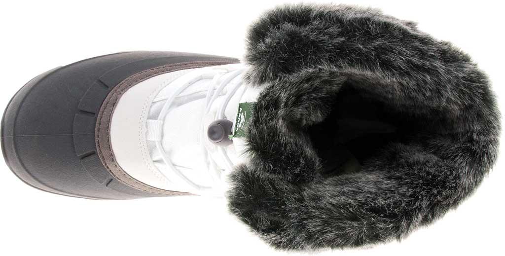 Women's Kamik Momentumlo Winter Boot, White Waterproof Quilted Nylon, large, image 5