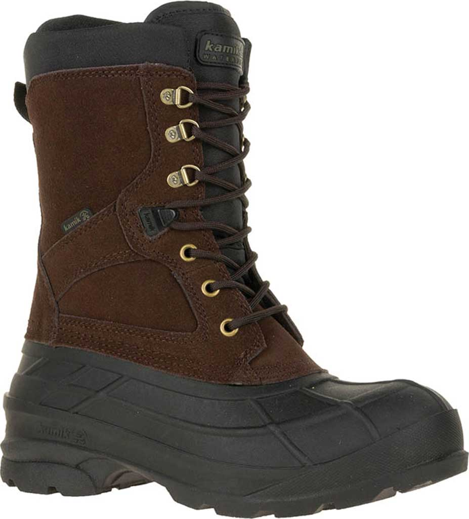 Men's Kamik Nationwide Waterproof Boot, Dark Brown Suede, large, image 1