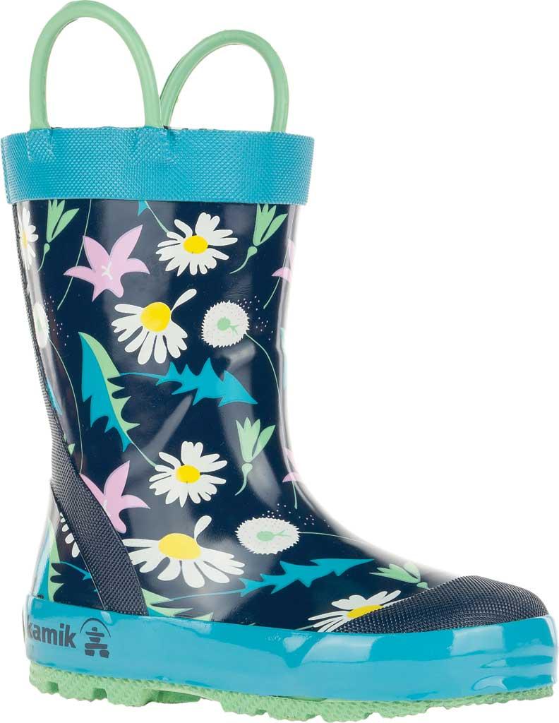 Infant Girls' Kamik Mayweed Rain Boot, Navy Rubber, large, image 1