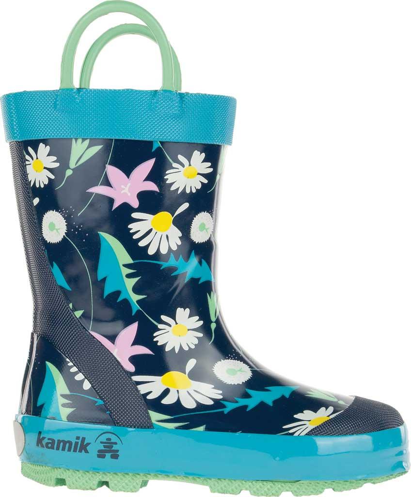 Infant Girls' Kamik Mayweed Rain Boot, Navy Rubber, large, image 2