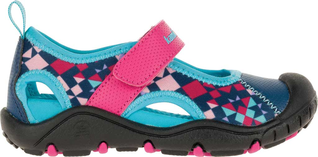 Girls' Kamik Claire Closed Toe Sandal, Magenta Synthetic Leather, large, image 2