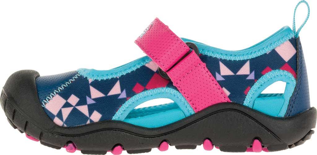Girls' Kamik Claire Closed Toe Sandal, Magenta Synthetic Leather, large, image 3