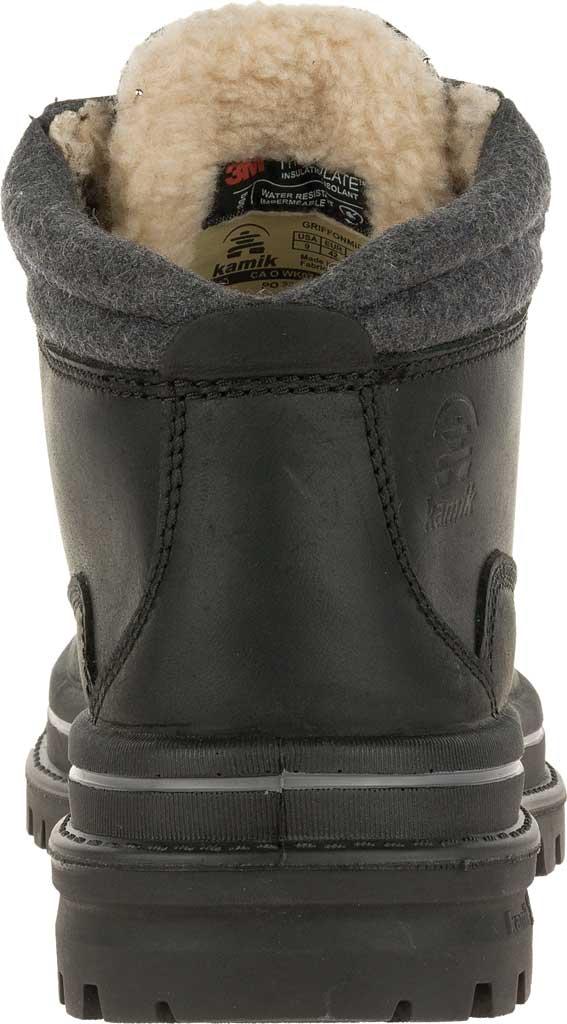 Men's Kamik Tyson Mid Snow Boot, Black Waterproof Leather, large, image 4