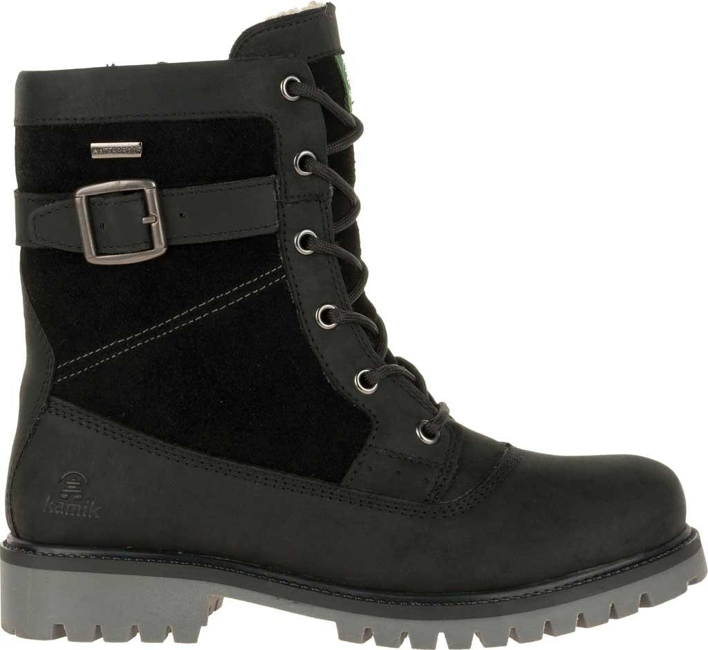 Women's Kamik Rogue Mid Snow Boot, Black Waterproof Leather, large, image 2