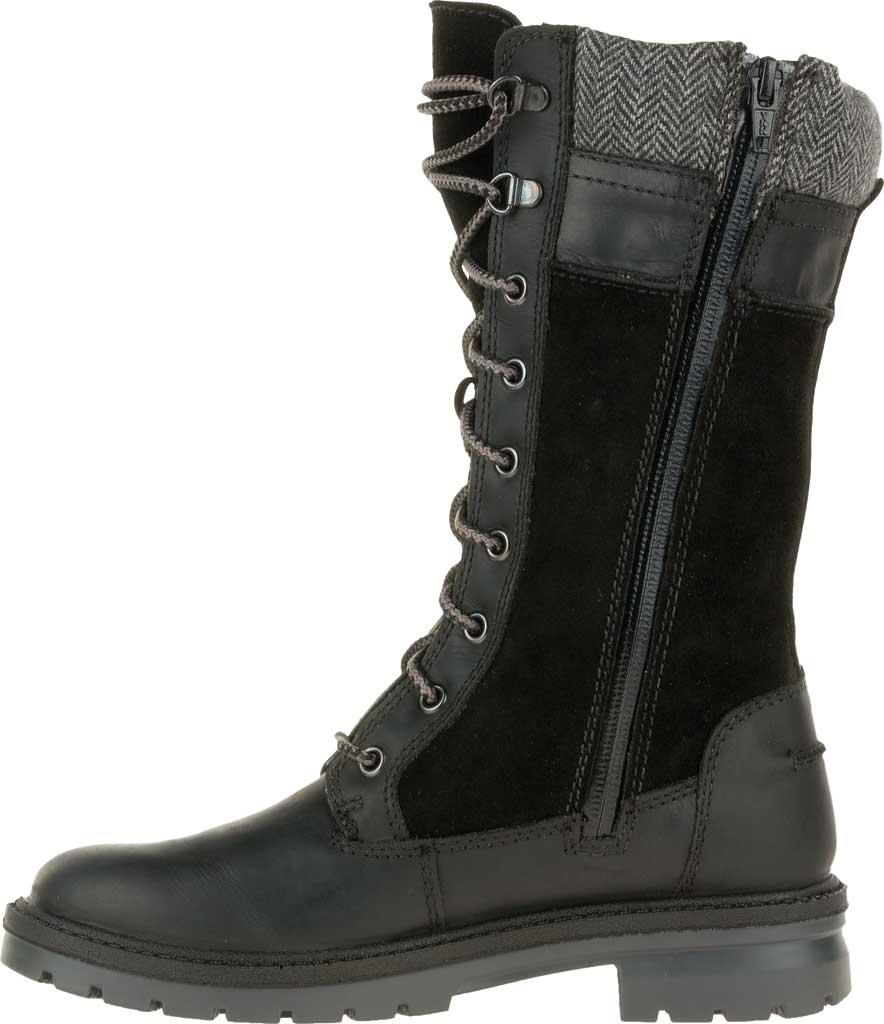 Women's Kamik Rogue Mid Snow Boot, Black Waterproof Leather, large, image 3