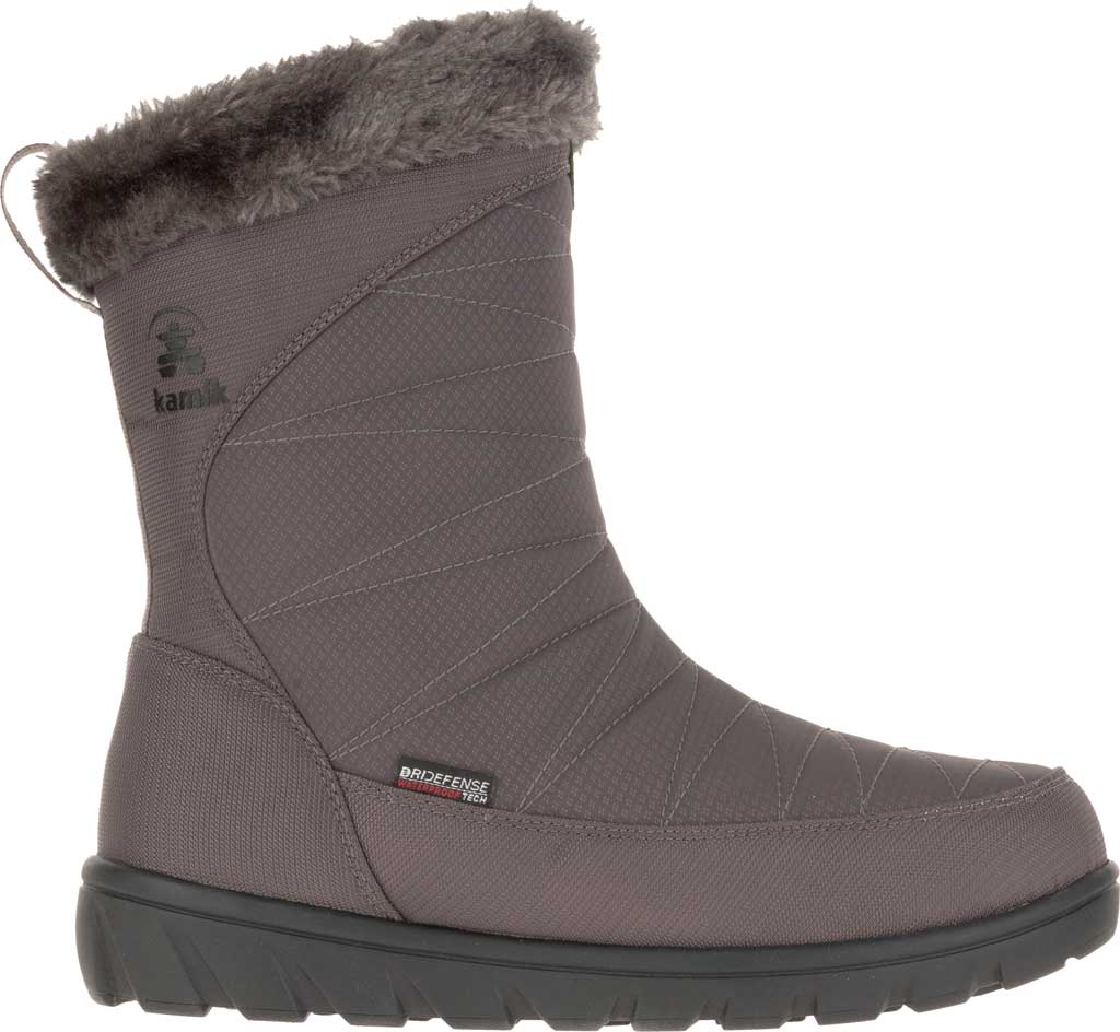 Women's Kamik Hannah Zip Snow Boot, Charcoal Quilted Nylon, large, image 2