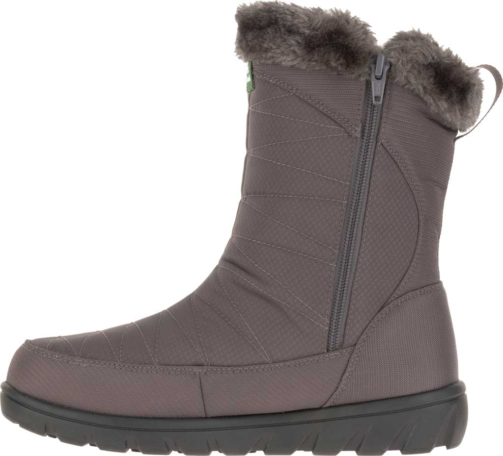 Women's Kamik Hannah Zip Snow Boot, Charcoal Quilted Nylon, large, image 3