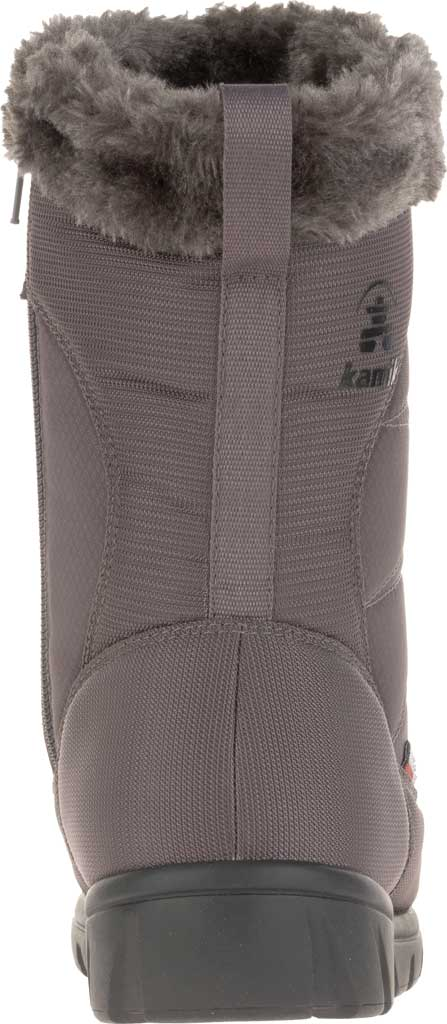 Women's Kamik Hannah Zip Snow Boot, Charcoal Quilted Nylon, large, image 4