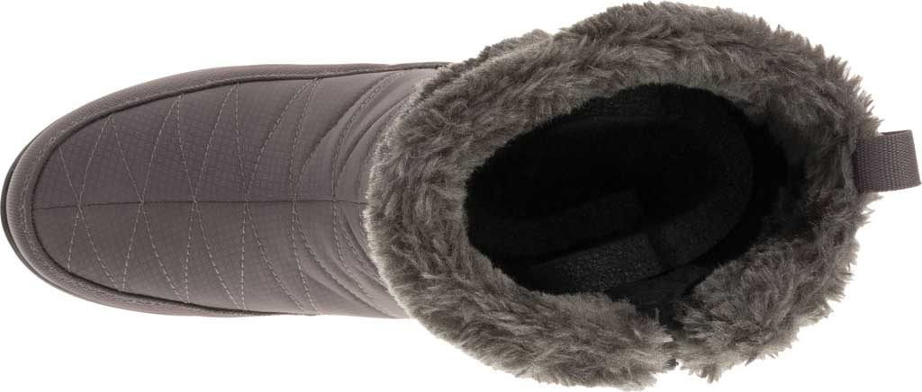 Women's Kamik Hannah Zip Snow Boot, Charcoal Quilted Nylon, large, image 5