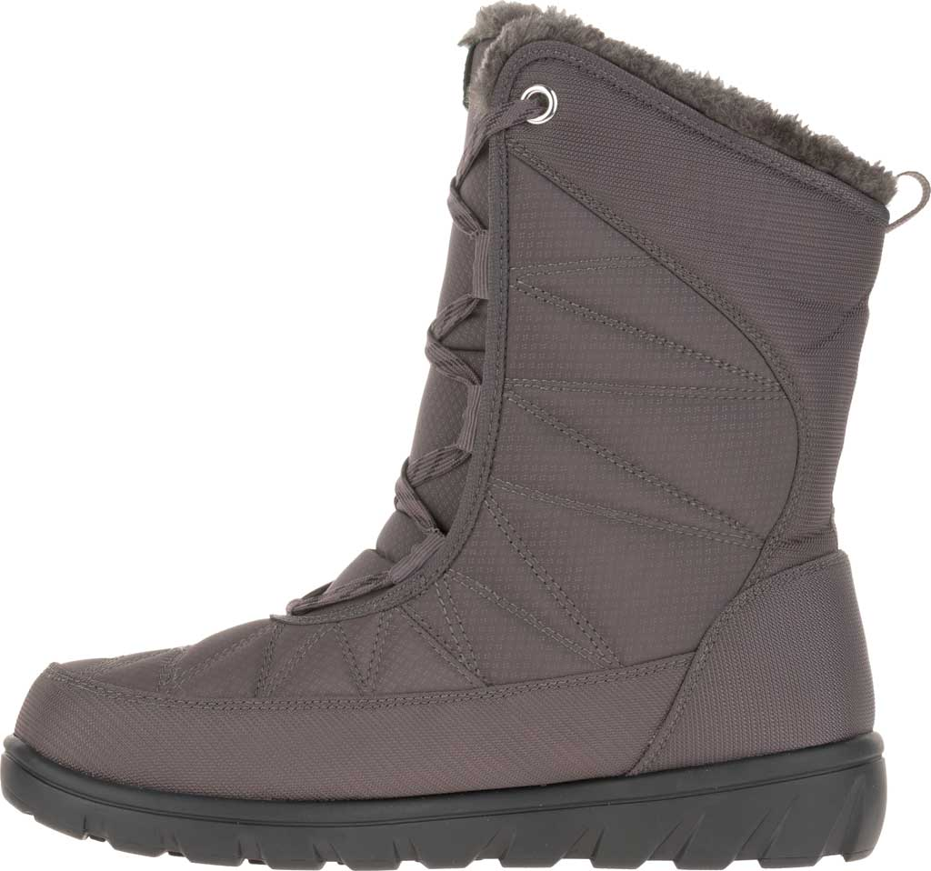 Women's Kamik Hannah Mid Snow Boot, Charcoal Quilted Nylon, large, image 3