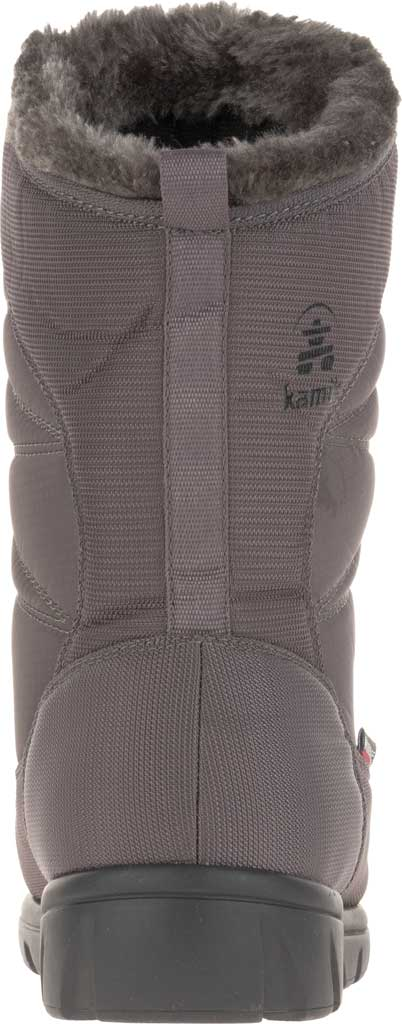 Women's Kamik Hannah Mid Snow Boot, Charcoal Quilted Nylon, large, image 4