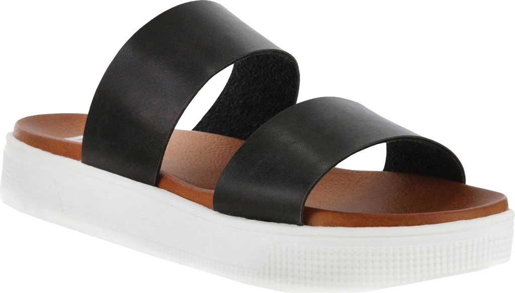 Women's Mia Saige Flatform Slide, Black Vegan Leather, large, image 1