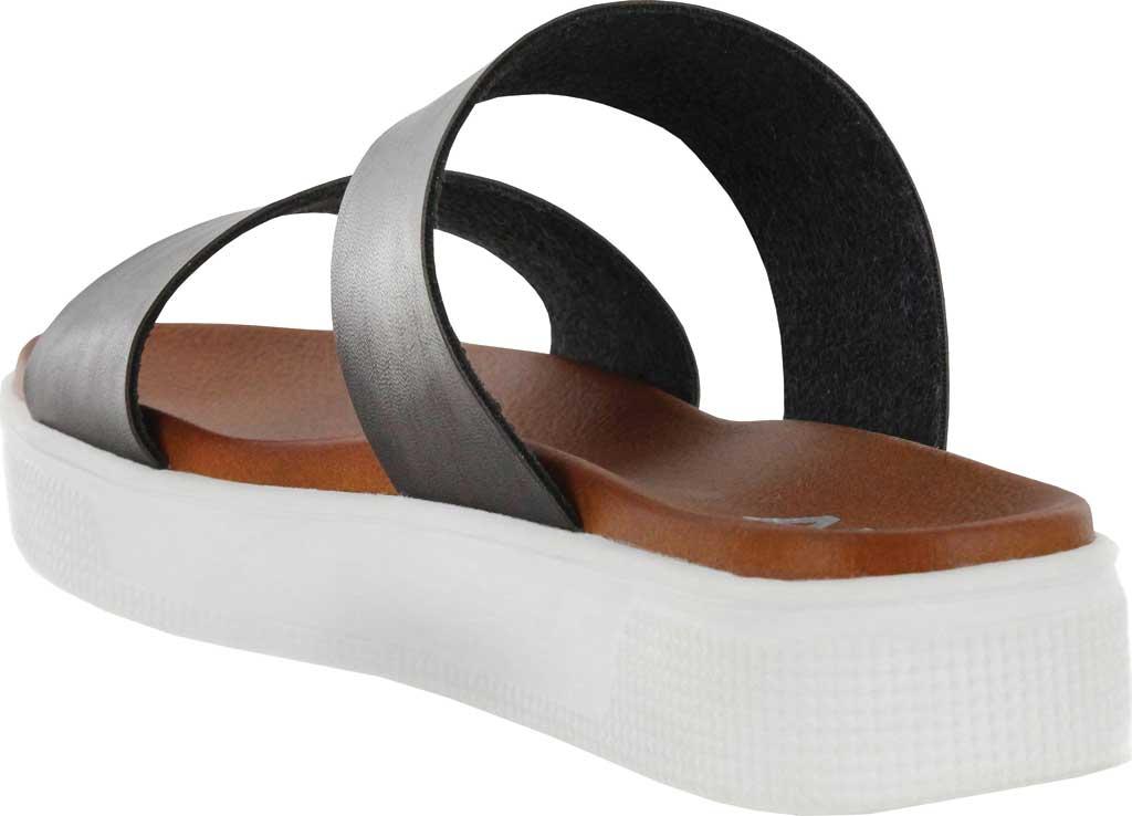 Women's Mia Saige Flatform Slide, Black Vegan Leather, large, image 3