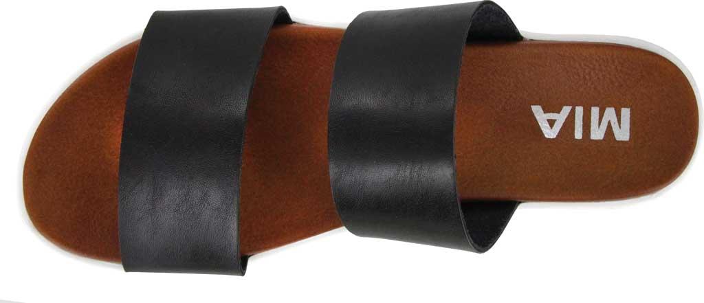Women's Mia Saige Flatform Slide, Black Vegan Leather, large, image 4