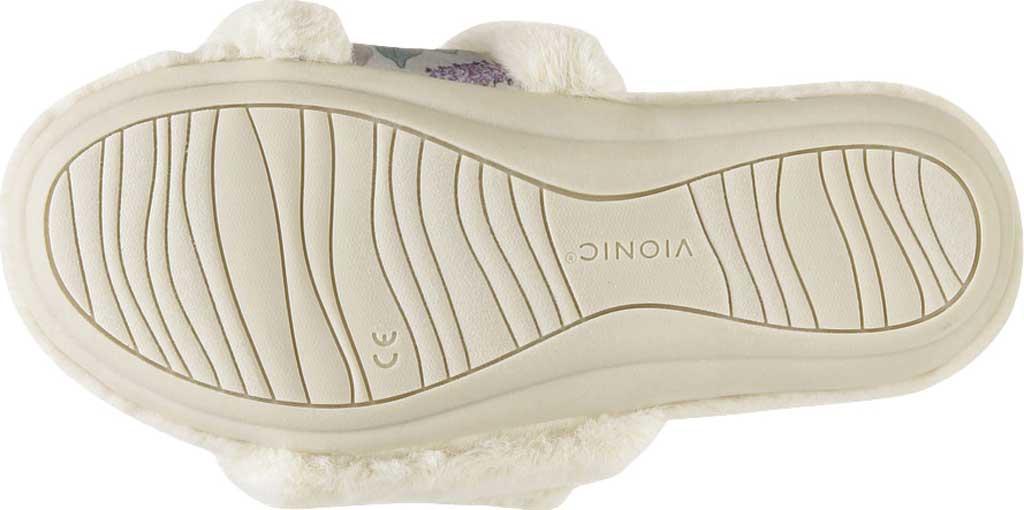 Women's Vionic Erma Slide Slipper, Cream Botanical Shearling, large, image 7