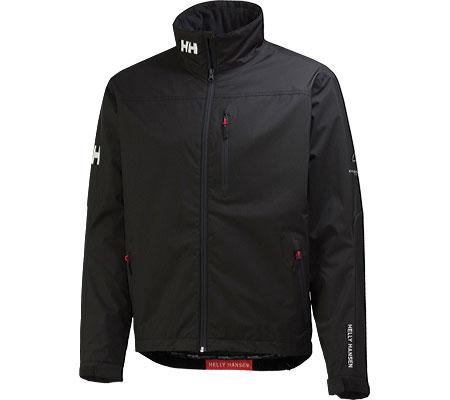 Men's Helly Hansen Crew Midlayer Jacket, Black, large, image 1
