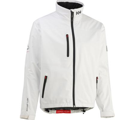 Men's Helly Hansen Crew Midlayer Jacket, Bright White, large, image 1