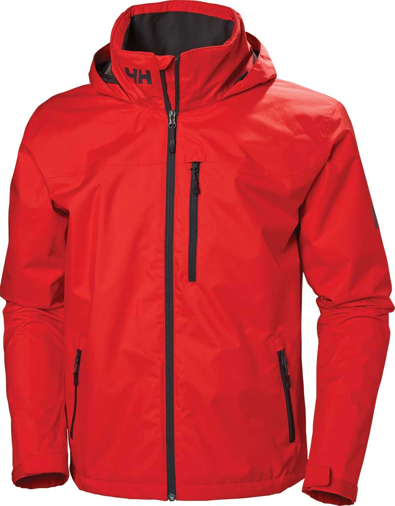 Men's Helly Hansen Crew Hooded Jacket, Alert Red, large, image 1