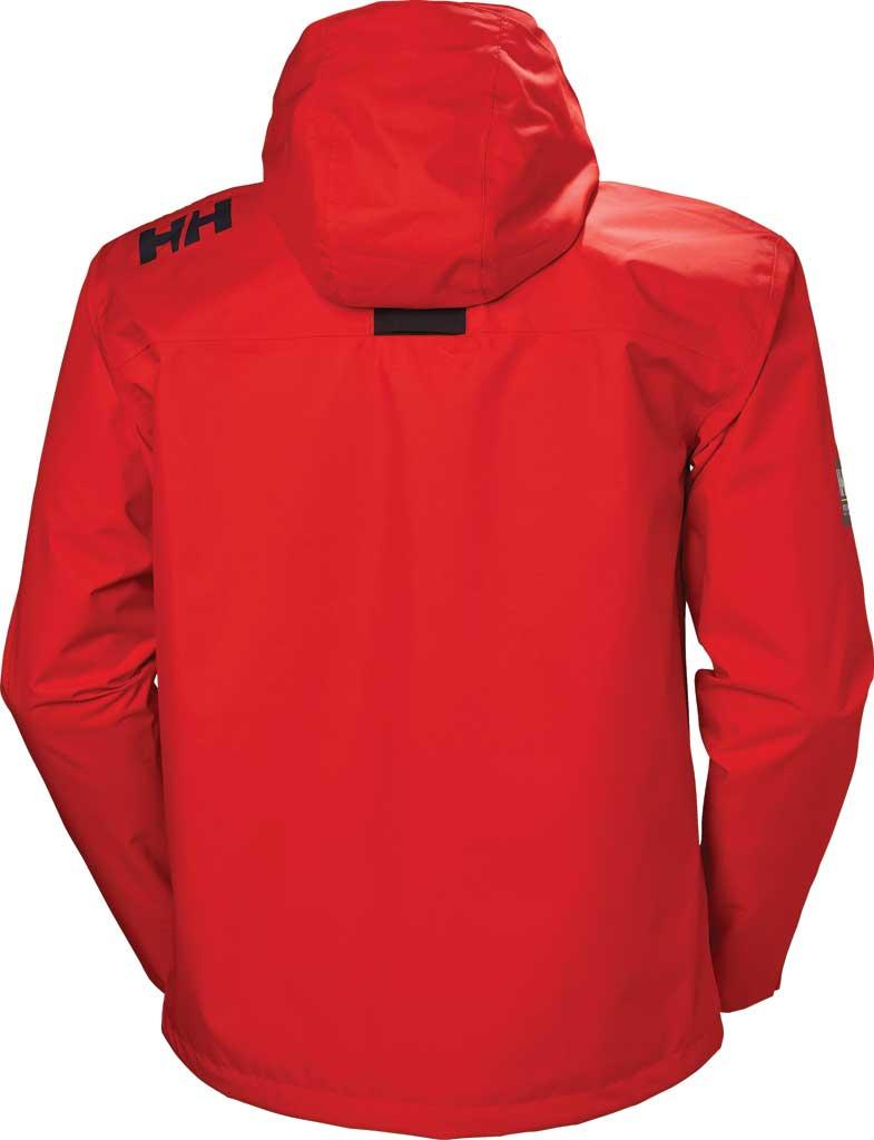 Men's Helly Hansen Crew Hooded Jacket, Alert Red, large, image 2