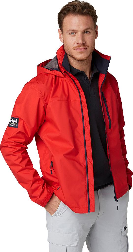 Men's Helly Hansen Crew Hooded Jacket, Alert Red, large, image 3