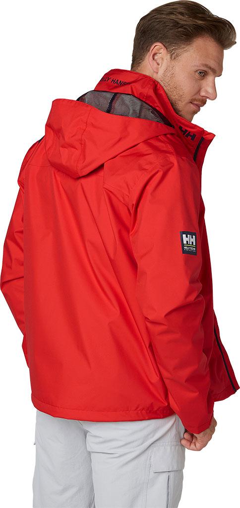 Men's Helly Hansen Crew Hooded Jacket, Grey Fog, large, image 4