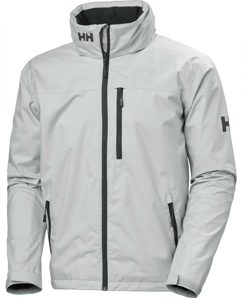 Men's Helly Hansen Crew Hooded Jacket, Grey Fog, large, image 1