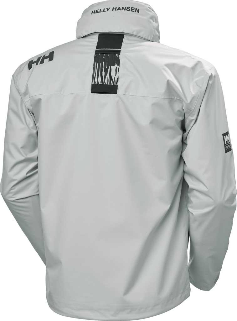 Men's Helly Hansen Crew Hooded Jacket, Grey Fog, large, image 2