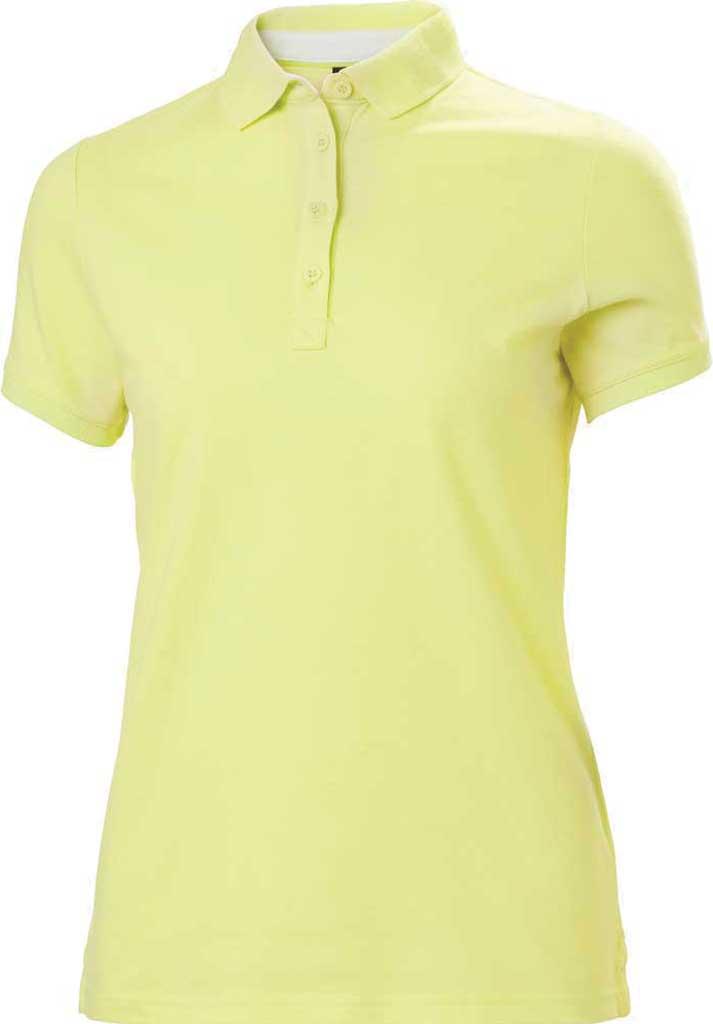 Women's Helly Hansen Crew Pique 2 Polo Shirt, Sunny Lime, large, image 1