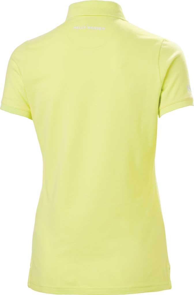 Women's Helly Hansen Crew Pique 2 Polo Shirt, Sunny Lime, large, image 2