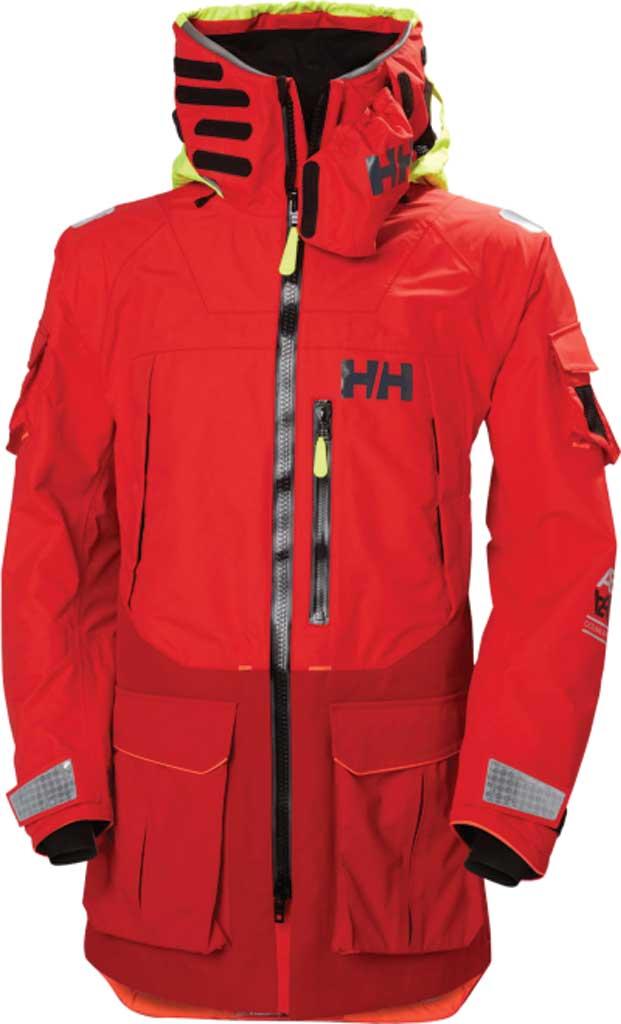 Men's Helly Hansen Aegir Ocean Jacket, Alert Red, large, image 1