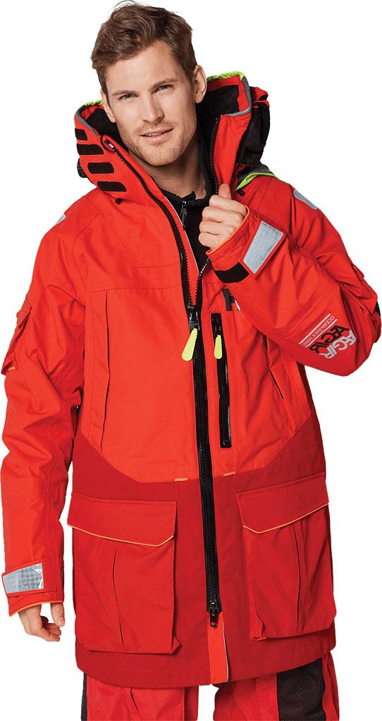 Men's Helly Hansen Aegir Ocean Jacket, Alert Red, large, image 3