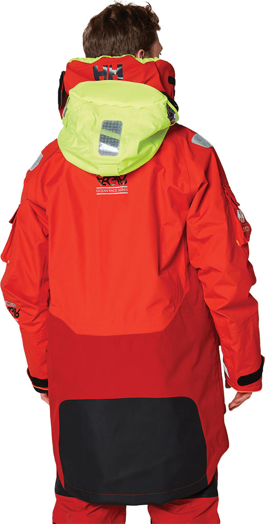 Men's Helly Hansen Aegir Ocean Jacket, Alert Red, large, image 4