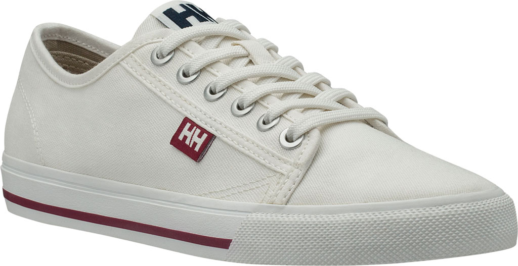 Women's Helly Hansen Fjord Canvas V2 Sneaker 11466, Off White/Beet Red/Navy, large, image 1
