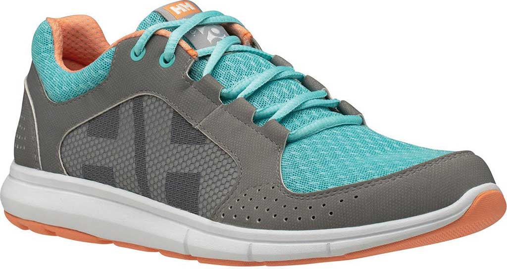 Women's Helly Hansen Ahiga V4 Hydropower Sneaker, Alloy/Glacier/Off White/Melon Synthetic, large, image 1