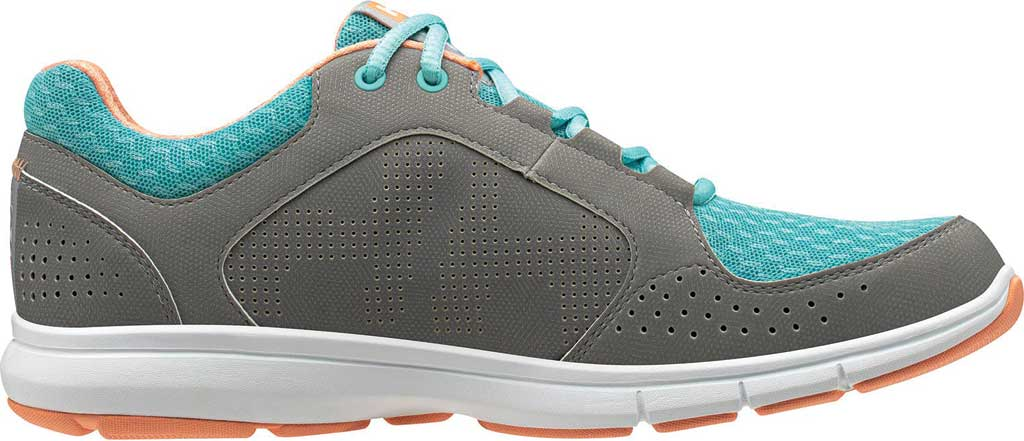 Women's Helly Hansen Ahiga V4 Hydropower Sneaker, Alloy/Glacier/Off White/Melon Synthetic, large, image 2