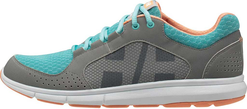 Women's Helly Hansen Ahiga V4 Hydropower Sneaker, Alloy/Glacier/Off White/Melon Synthetic, large, image 3