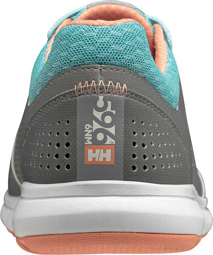 Women's Helly Hansen Ahiga V4 Hydropower Sneaker, Alloy/Glacier/Off White/Melon Synthetic, large, image 4