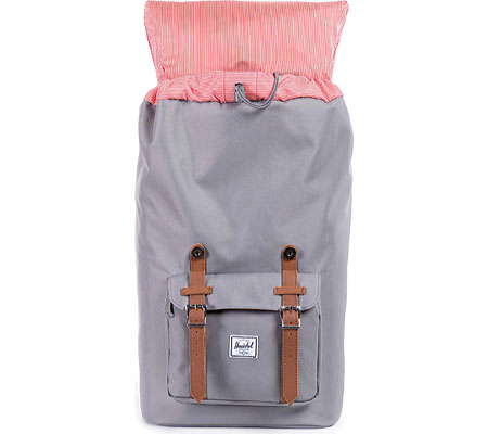 Herschel Supply Co. Little America Backpack, Grey/Tan, large, image 4
