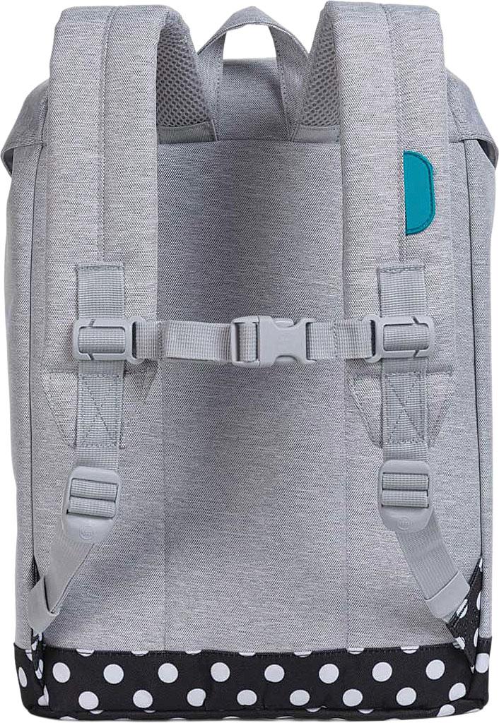 Children's Herschel Supply Co. Retreat Youth Backpack, Light Grey Crosshatch/Polka Dot/Tile Blue Rubber, large, image 2