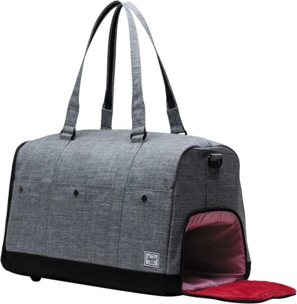Herschel Supply Co. Bennett Duffel Bag, Raven Crosshatch, large, image 4