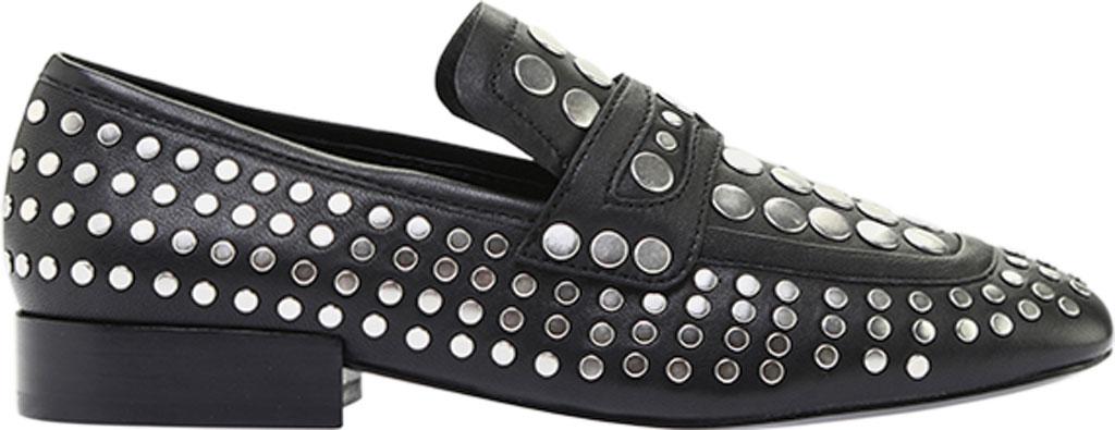 Women's ASH Ono Embellished Flat, Black Glove Leather, large, image 2