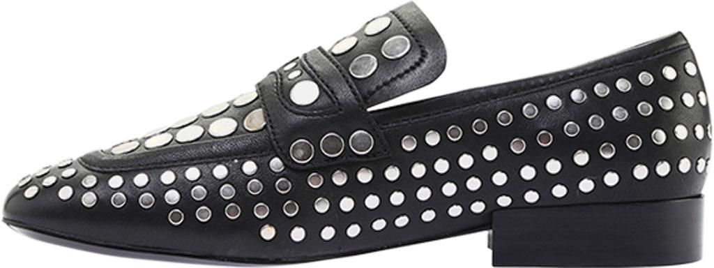 Women's ASH Ono Embellished Flat, Black Glove Leather, large, image 3