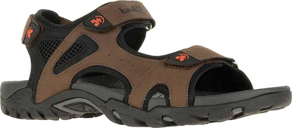 Men's Kamik Milos Active Sandal, Brown, large, image 1